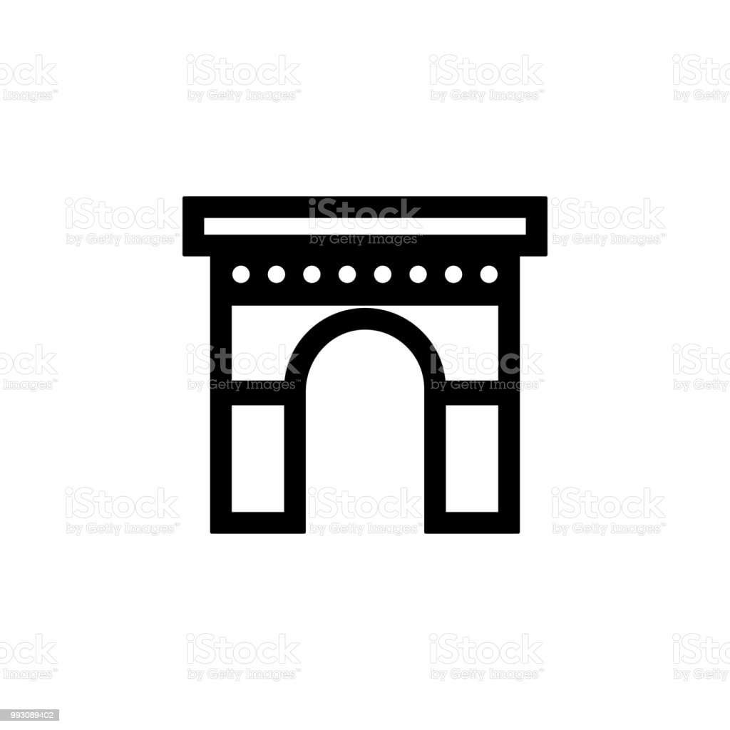 arch icon. Element of building icon for mobile concept and web apps. Detailed arch icon can be used for web and mobile. Premium icon vector art illustration
