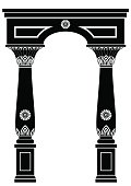 Arch in ancient Egyptian style