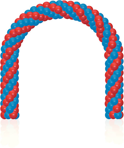 Arch of balloons  natural arch stock illustrations