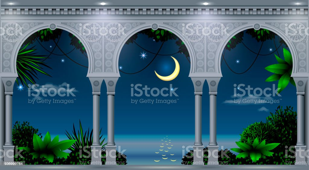 Arch of the Eastern Palace vector art illustration