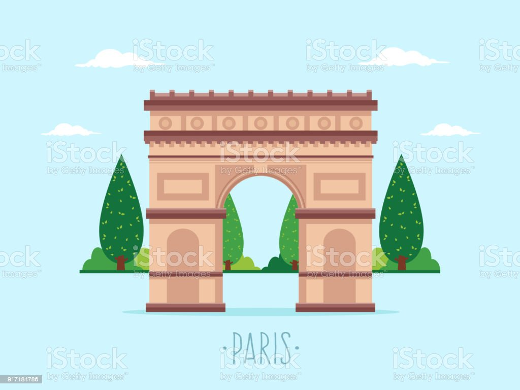 Arch of Triumph vector art illustration