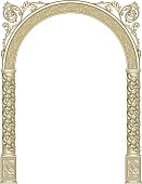 Very ornate and detailed arch.