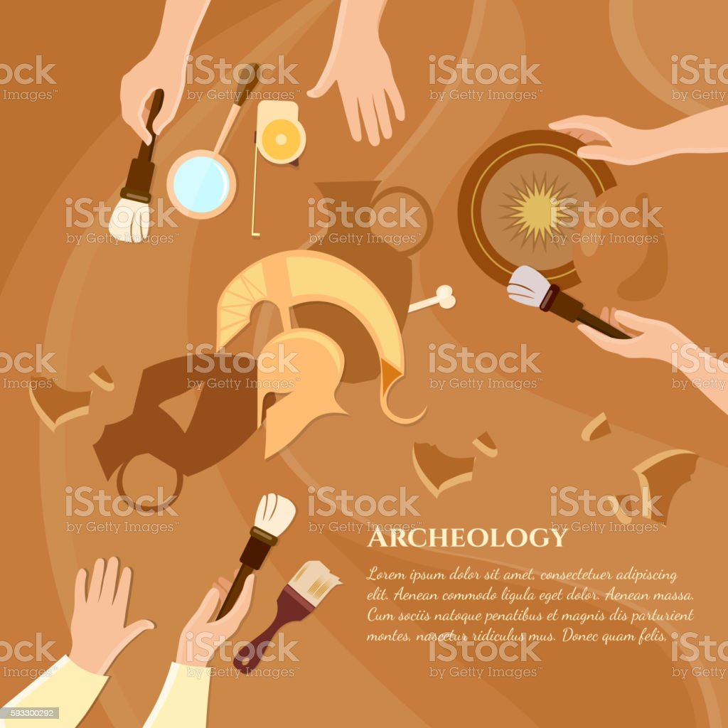 Archaeological excavation achaeologists
