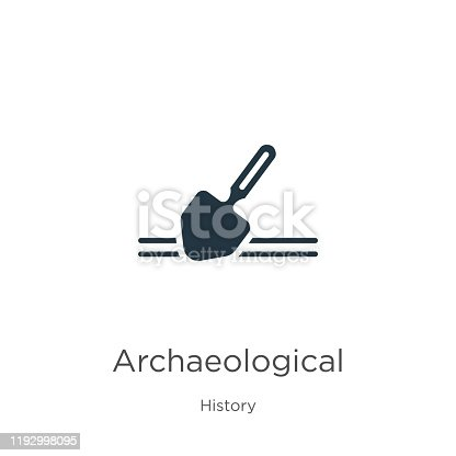 Archaeological icon vector. Trendy flat archaeological icon from history collection isolated on white background. Vector illustration can be used for web and mobile graphic design, logo, eps10