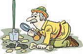 istock Archaeologist . Excavations, archeology 1249123442