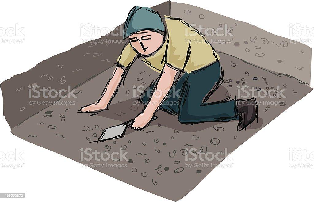 Archaeologist vector art illustration