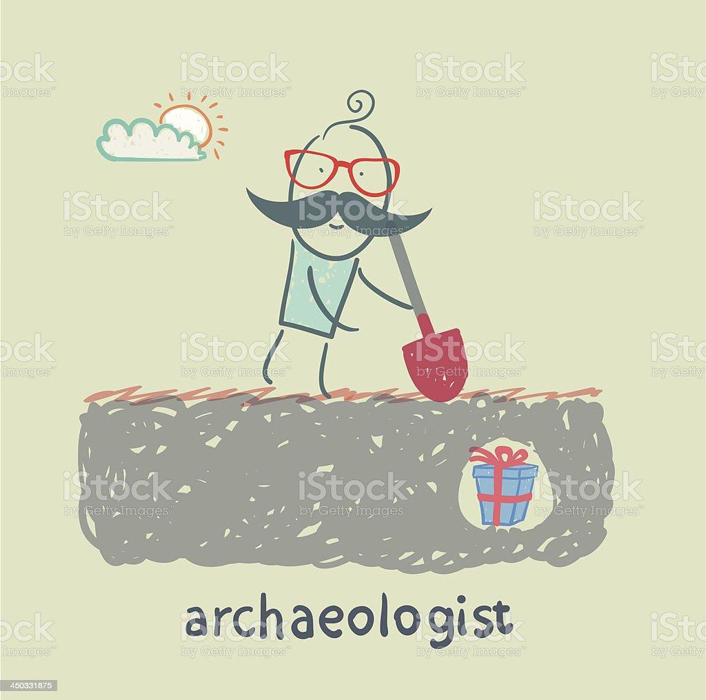 archaeologist royalty-free stock vector art