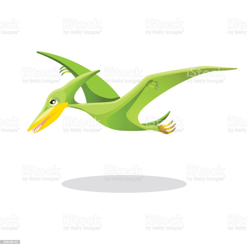 Archaeopteryx, original or first bird isolated on white. vector art illustration