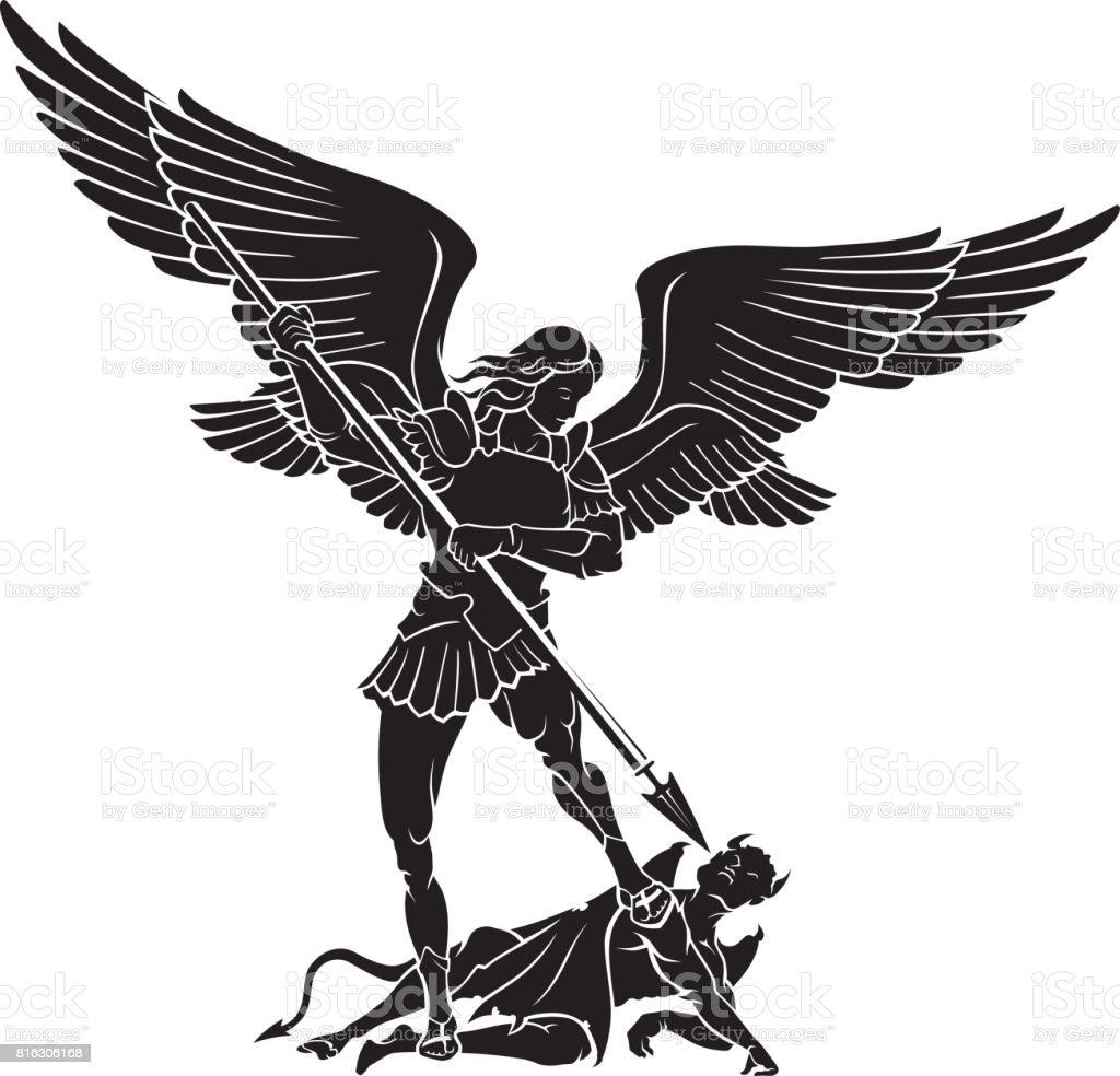 Arcángel miguel - ilustración de arte vectorial