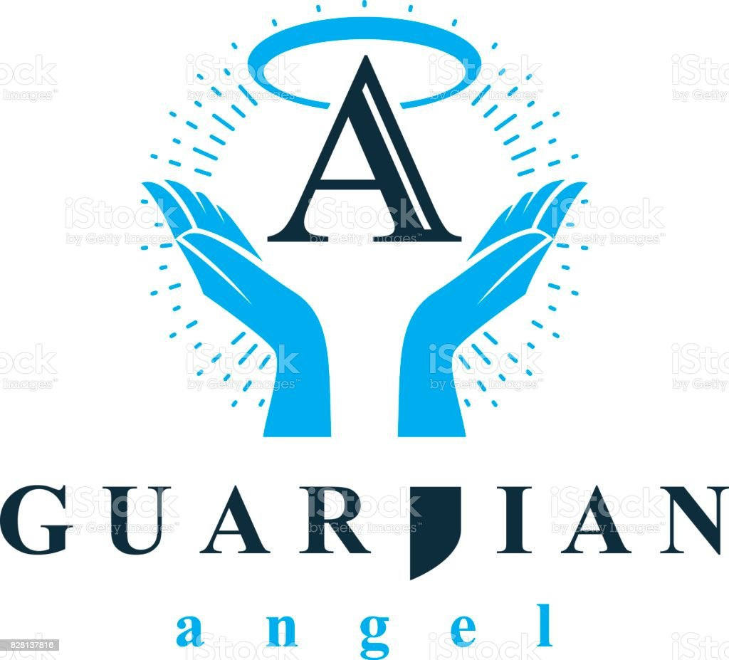 Archangel vector conceptual symbol for use in catechesis organizations. vector art illustration