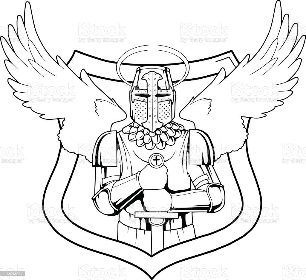 Arcángel - ilustración de arte vectorial