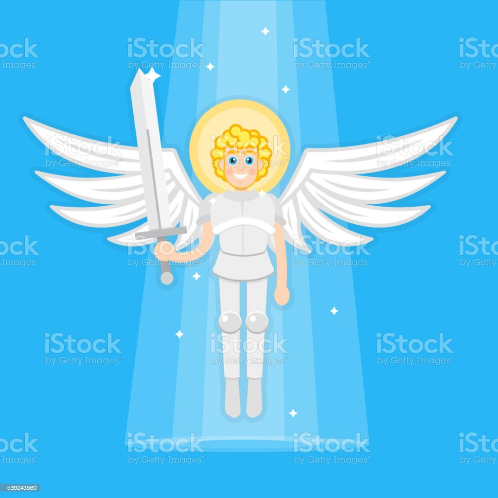 Archangel with sword royalty-free archangel with sword stock vector art & more images of angel