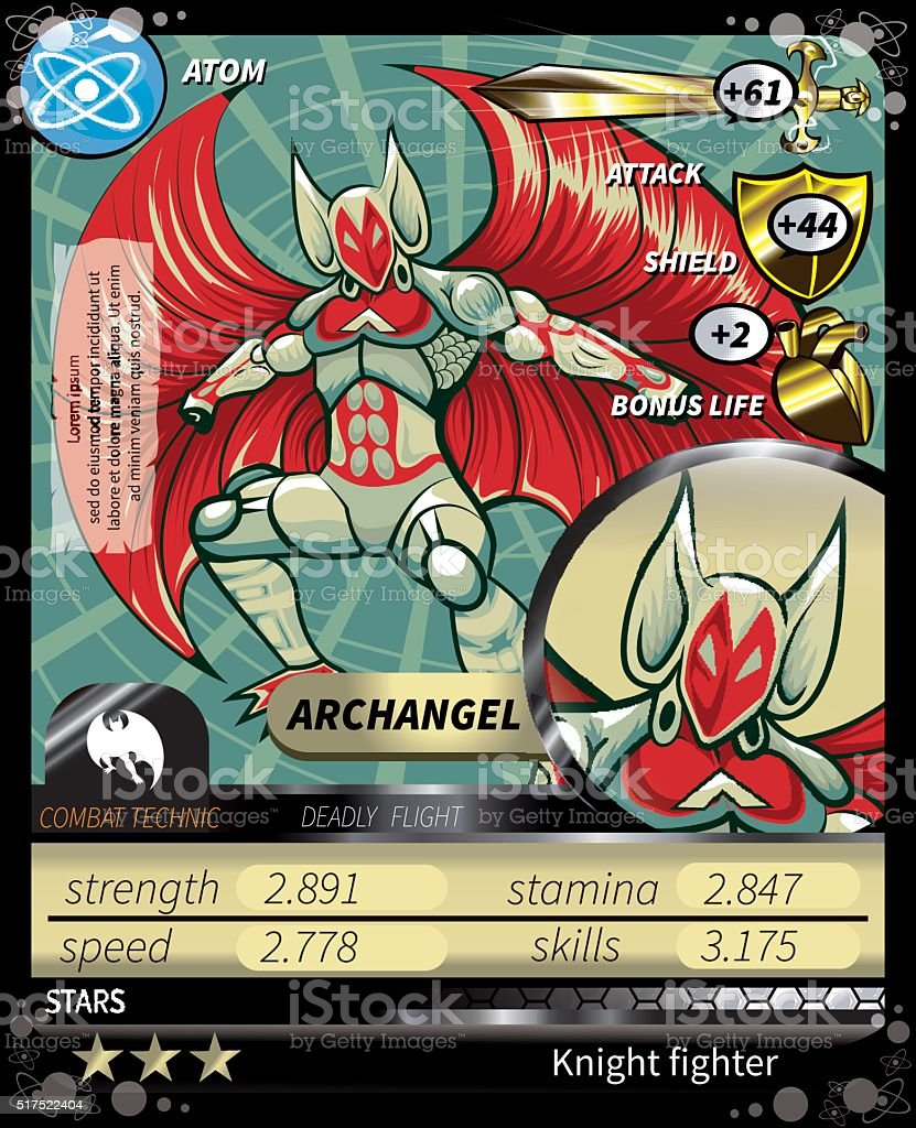 Archangel_card - ilustración de arte vectorial