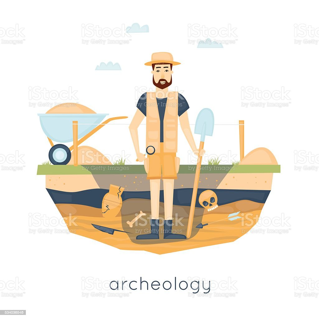 royalty free archaeology clip art vector images illustrations rh istockphoto com Bible Archaeology Archaeology Cartoons