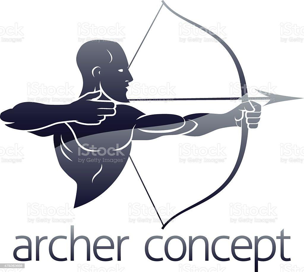 Archer Concept vector art illustration