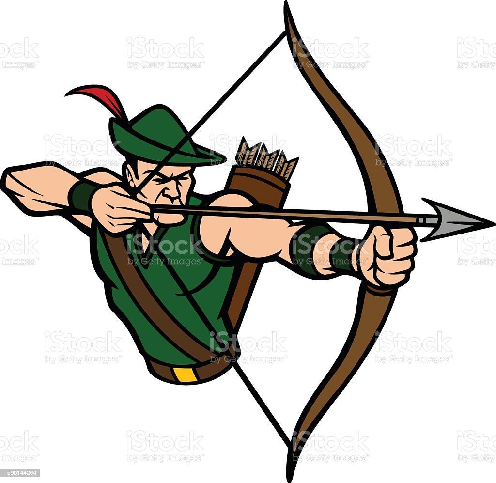 royalty free archer clip art vector images illustrations istock rh istockphoto com archery clip art free archery clipart black and white