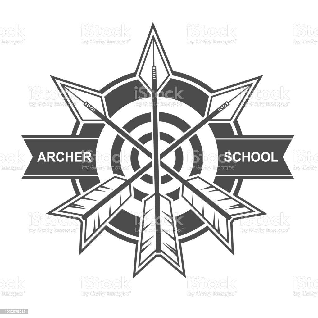 Archer School Template Design vector art illustration