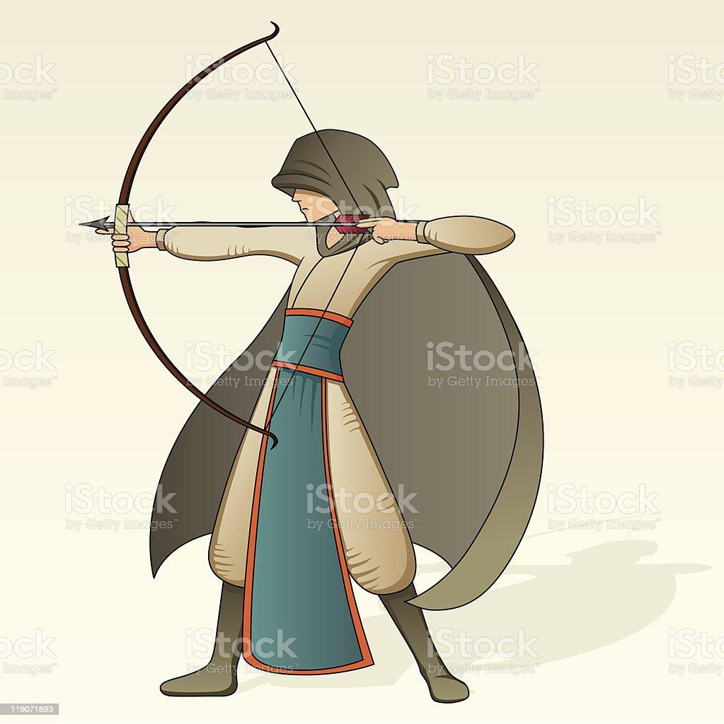 Archer royalty-free stock vector art