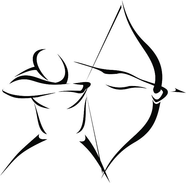 Archer vector art illustration