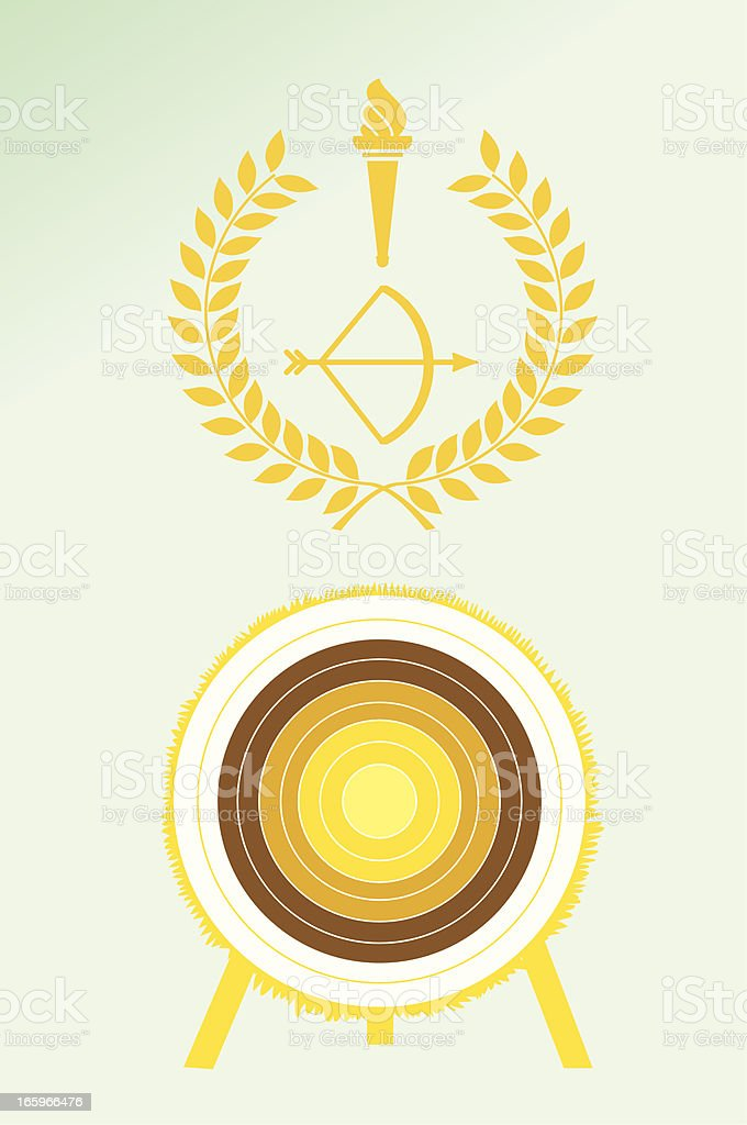 Archery poster and emblem royalty-free stock vector art