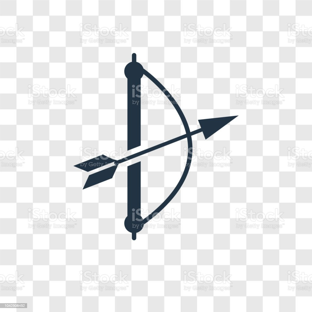 Archery Vector Icon Isolated On Transparent Background