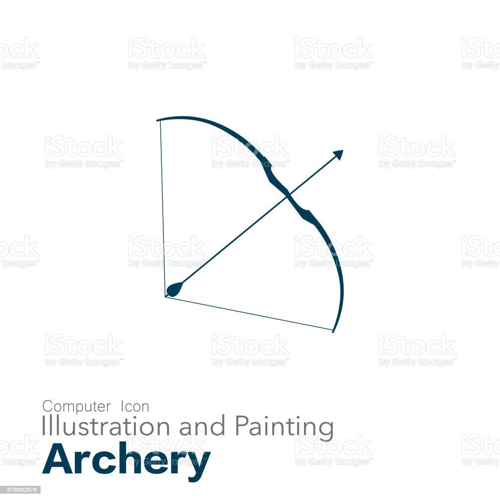archery vector art illustration