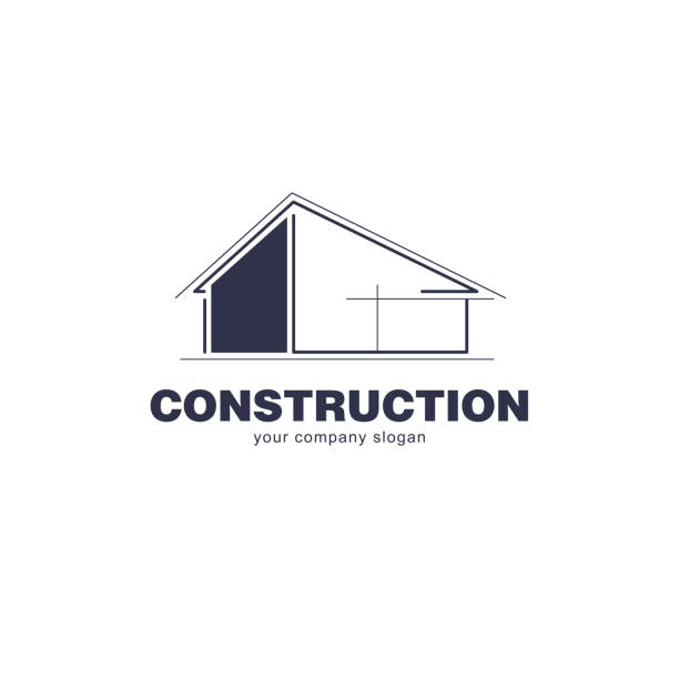 Architect construction  template. Vector design icon for building company. vector art illustration
