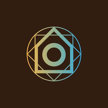 Architect initial Letter O icon design