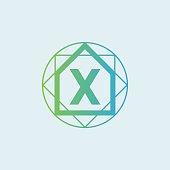 Architect initial Letter X icon design