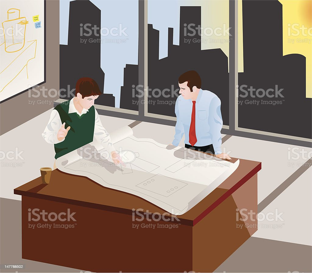 Architects Meeting royalty-free stock vector art