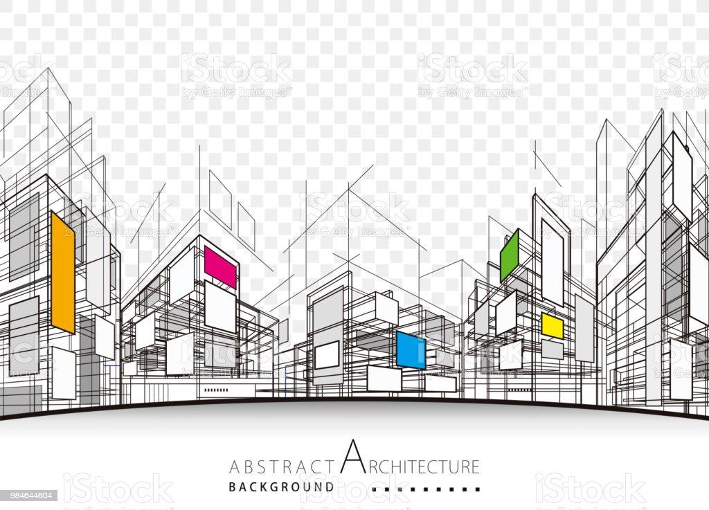 Fondo abstracto arquitectura - ilustración de arte vectorial