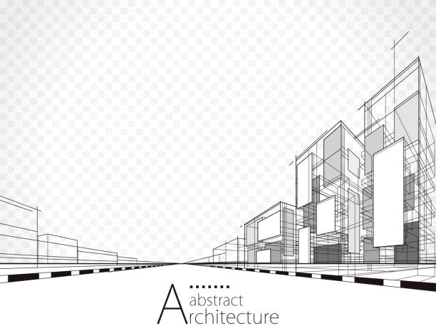 mimari arka plan - abstract architecture stock illustrations