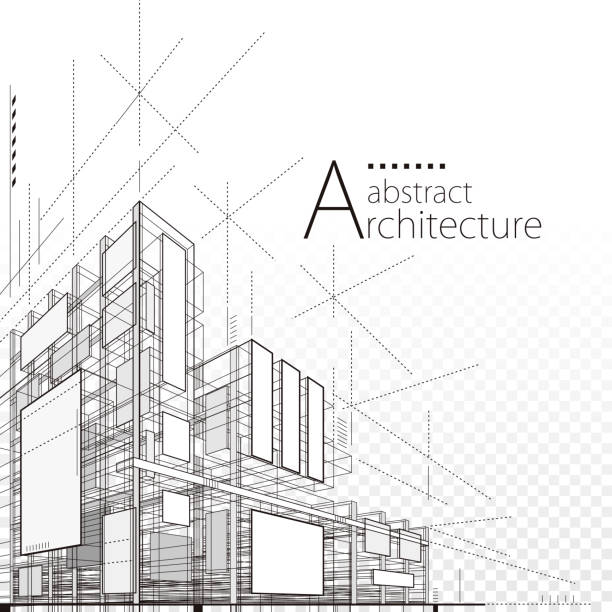 architectural abstract design - abstract architecture stock illustrations