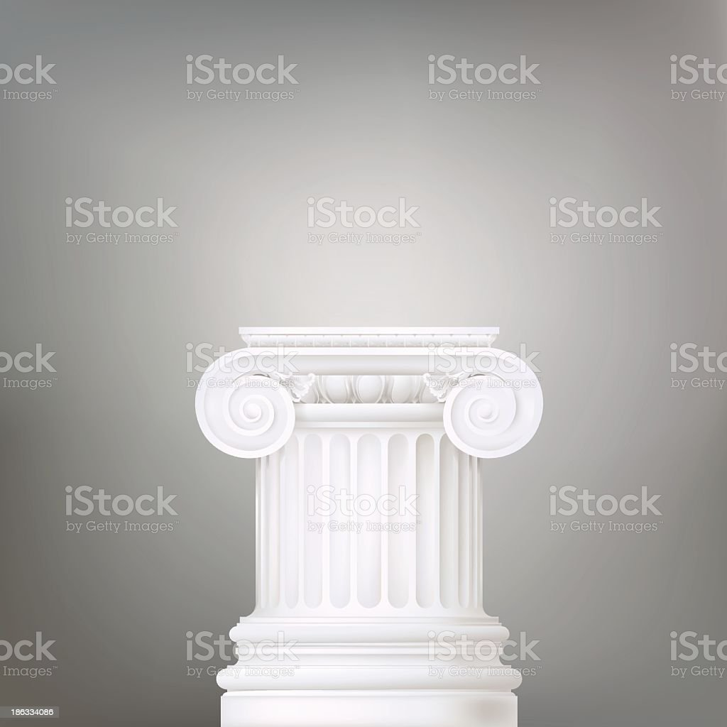 architectural background , ionic column vector art illustration