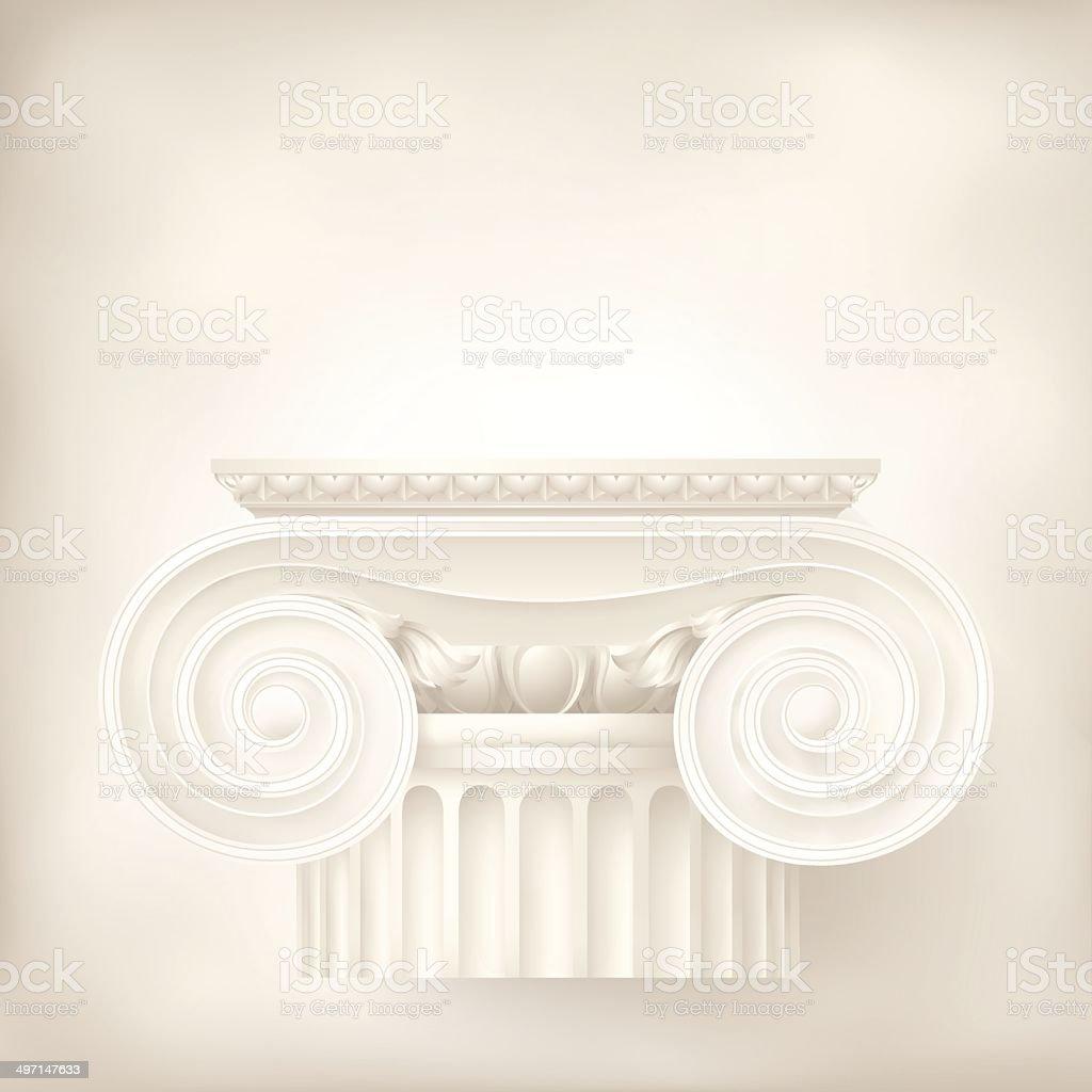 architectural background , ionic column vector art illustration