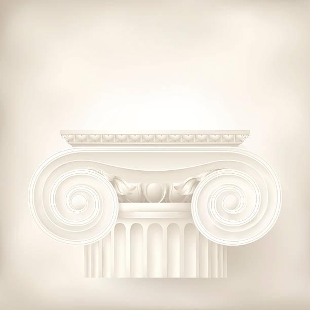 architektonischen hintergrund, ionisch spalte - gesims stock-grafiken, -clipart, -cartoons und -symbole