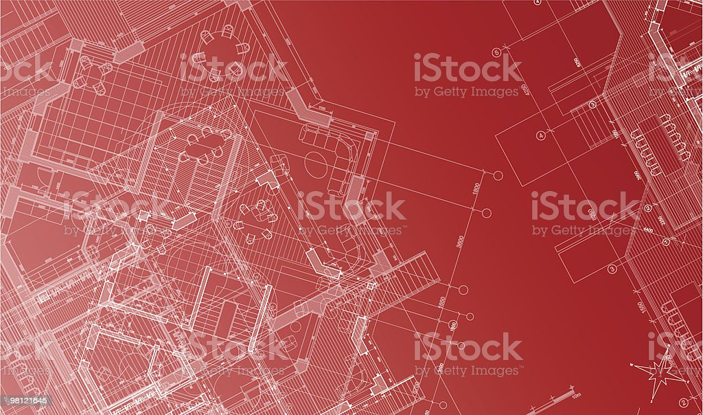 Architectural background - plan of the house royalty-free architectural background plan of the house stock vector art & more images of architecture