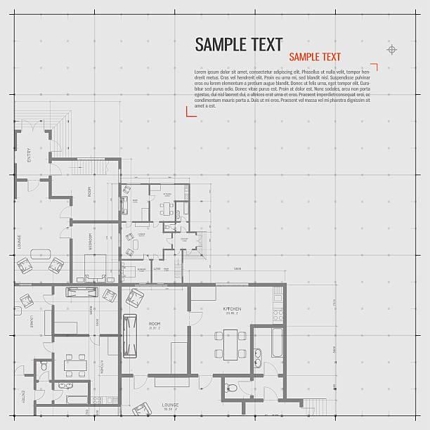architektoniczne tło. - mieszkanie komunalne stock illustrations