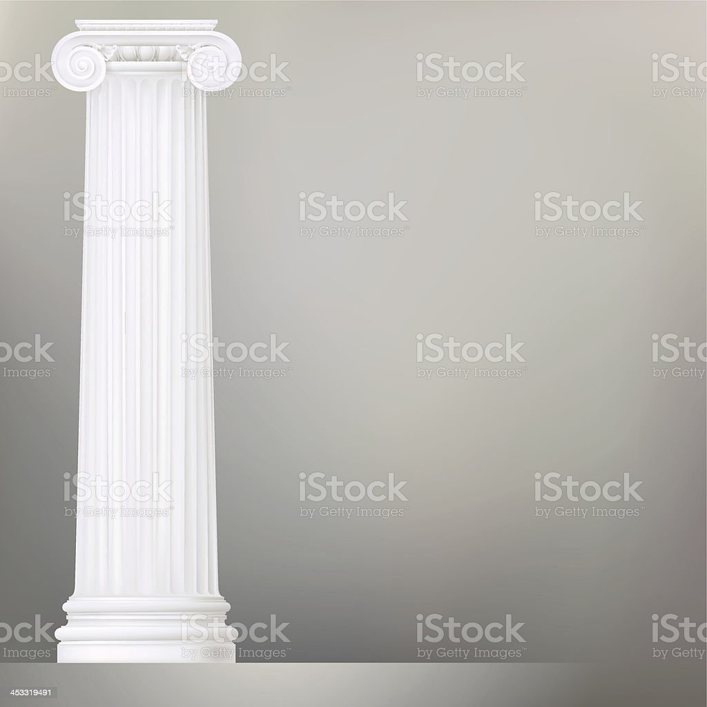 architectural background with ionic column vector art illustration