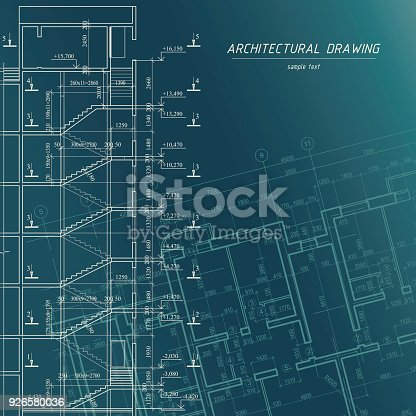 Architectural blueprint building background stock vector art more architectural blueprint building background stock vector art more images of abstract 926580036 istock malvernweather