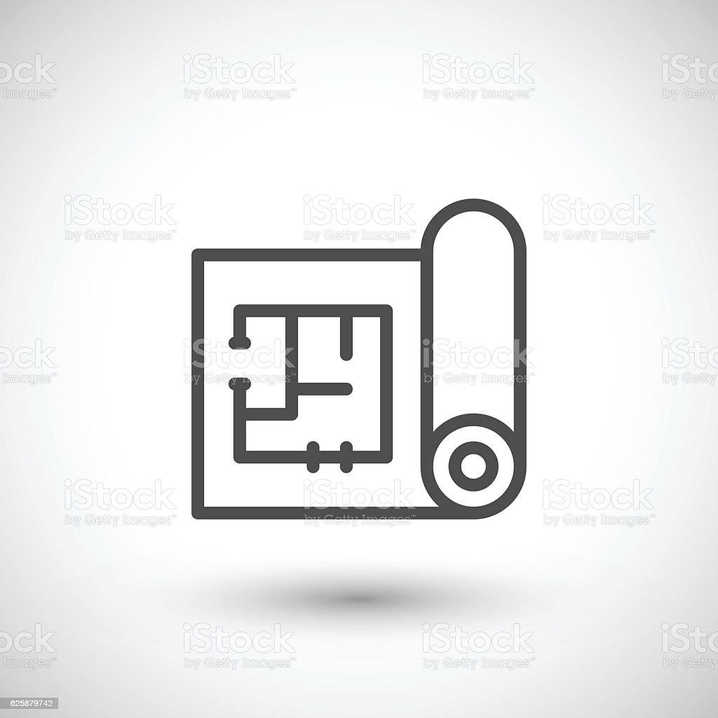 Architectural blueprint icon stock vector art more images of architectural blueprint icon royalty free architectural blueprint icon stock vector art amp more images malvernweather Gallery