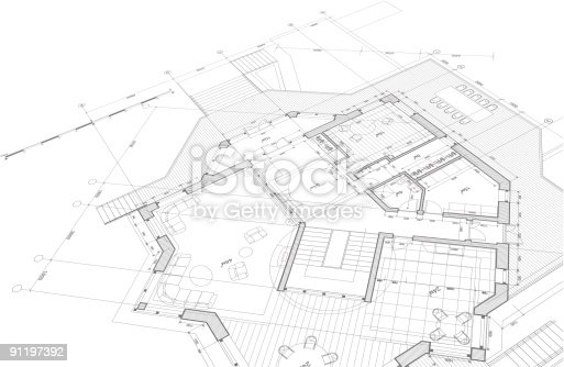 Architectural blueprint - plan of the house