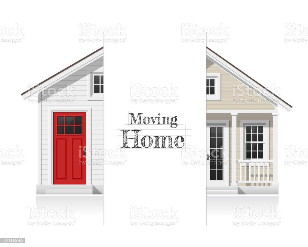 Fond de concept architectural pour bouger changer de maison et