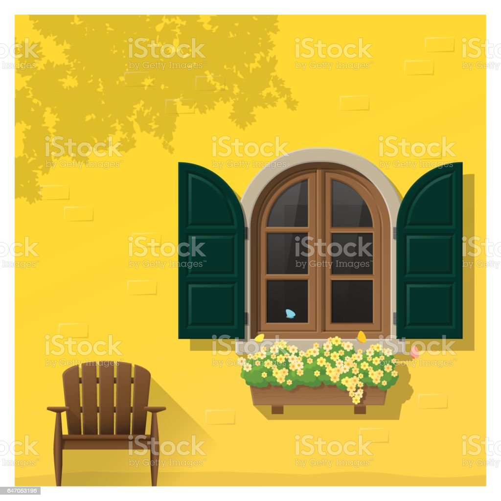 Architectural Element Window Background Vector