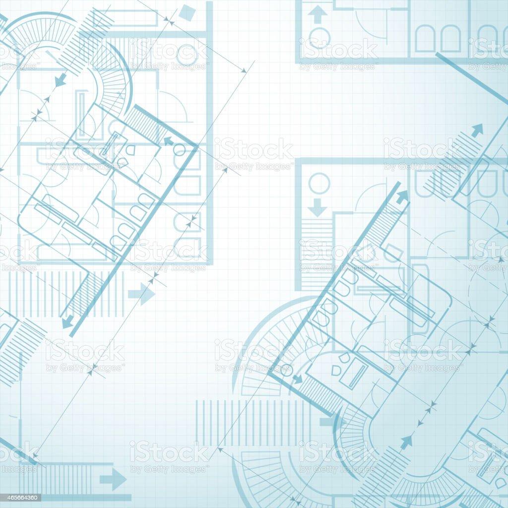 Architectural plan background vector art illustration