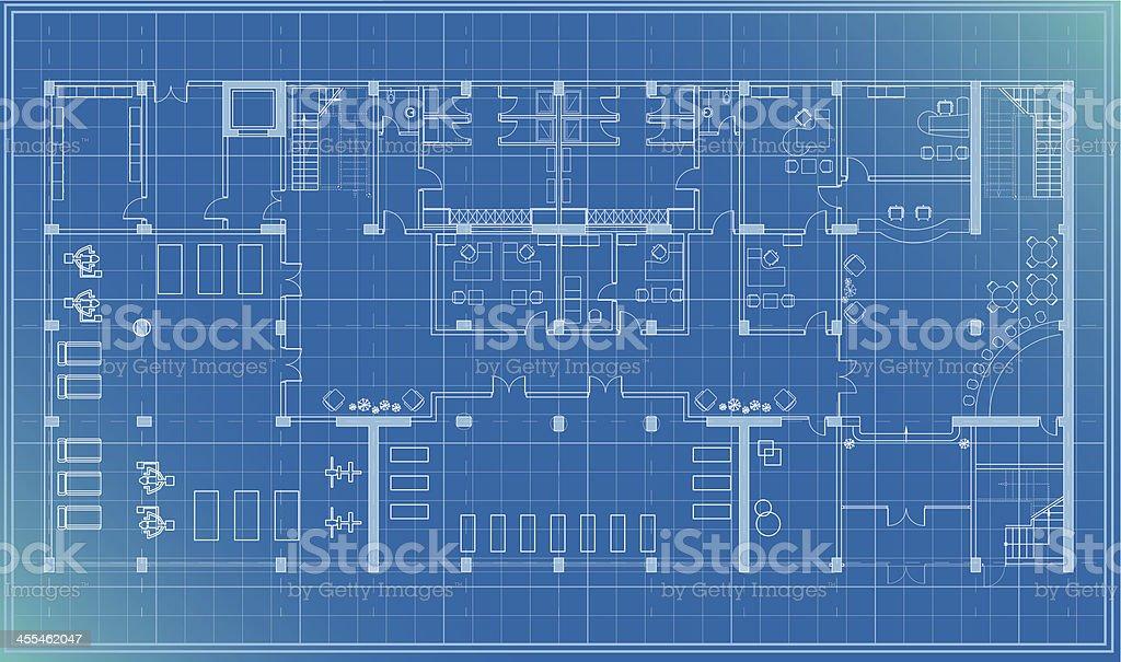 architectural plan blueprint entrance royalty-free stock vector art