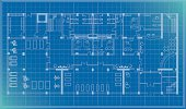 architectural plan blueprint vector of a health center including fitness center,changing rooms,office,reception,entrance,cafe , pdf,png,ai8 incl. please see the other floor: