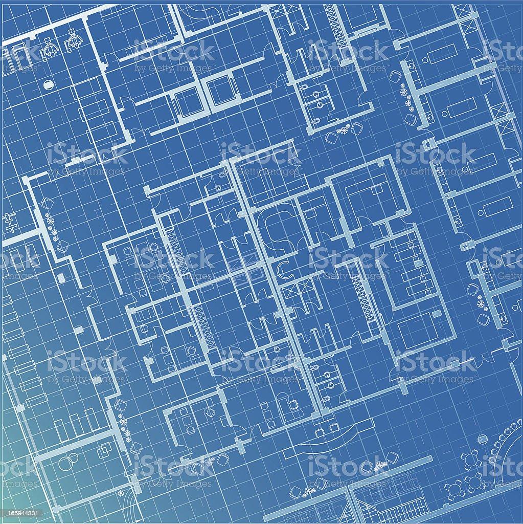architectural plan blueprint royalty-free stock vector art