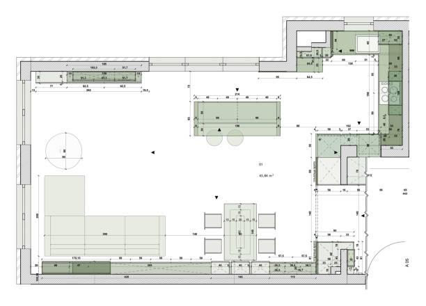 Architectural plan. Interior blueprint vector illustration. vector art illustration