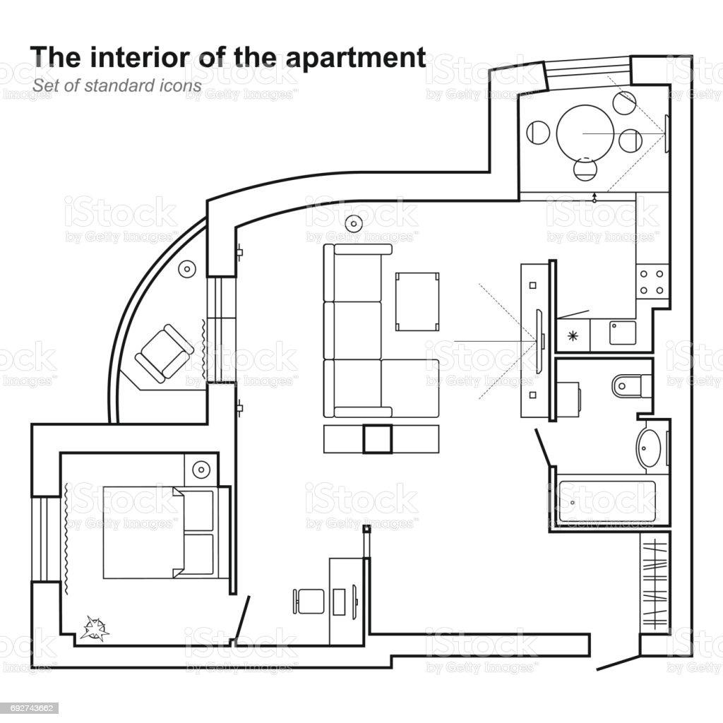 Plan Architectural Dune Maison En Vue De Dessus Plan Détage